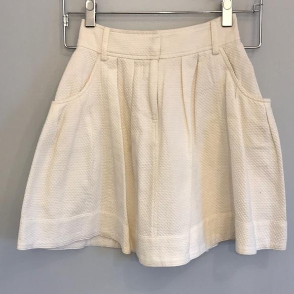 b13e59fe38 Ralph Lauren Blue Label Skirts | Thick White Skirt With Pockets ...